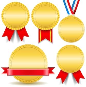 Conjunto de medalhas de ouro