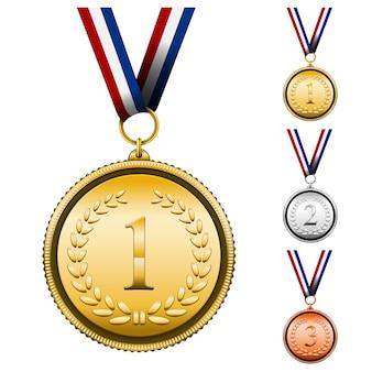 Conjunto de medalhas de premiação