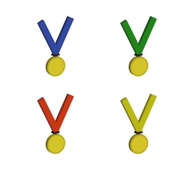 Conjunto de medalhas