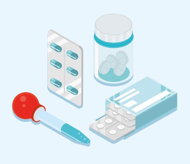 Conjunto de medicação isométrico