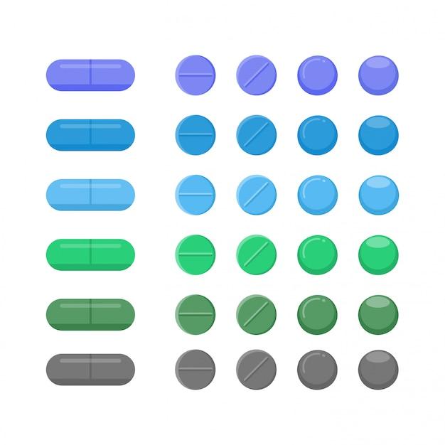 Conjunto de medicina médica conceito de cuidados de saúde