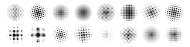 Conjunto de meio-tom abstrato do círculo.