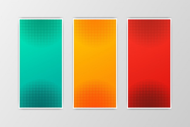 Conjunto de meio-tom abstrato fundo estilo de design