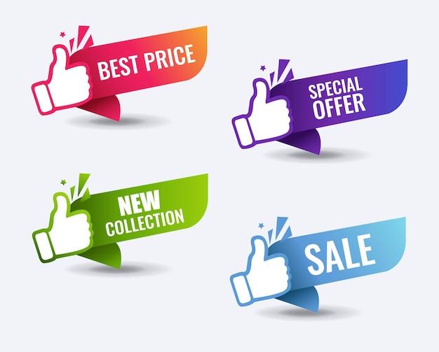 Conjunto de melhores etiquetas de preços