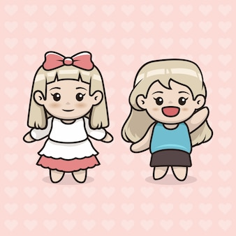 Conjunto de menina cute kawaii