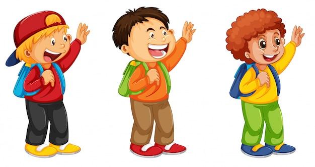 Conjunto de menino de escola