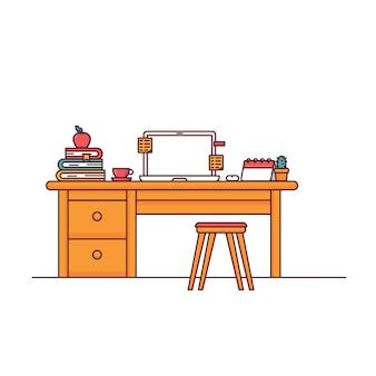 Conjunto de mesas de computador de escritório em casa