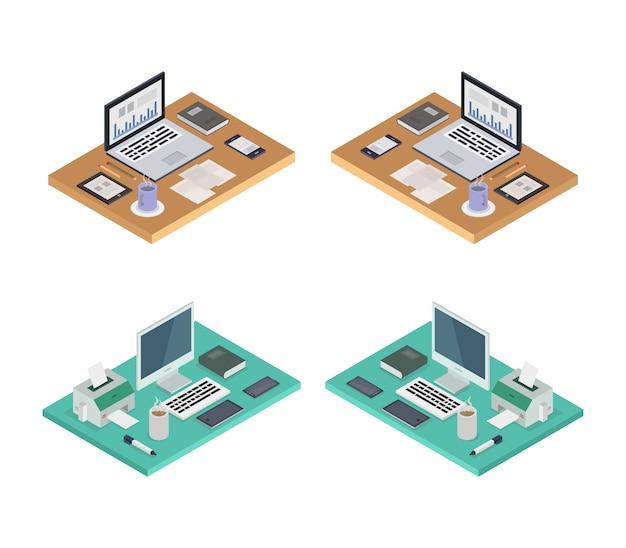 Conjunto de mesas de escritório