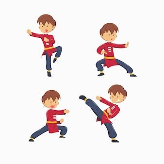 Conjunto de mestre de kungfu