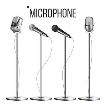 Conjunto de microfone com suporte