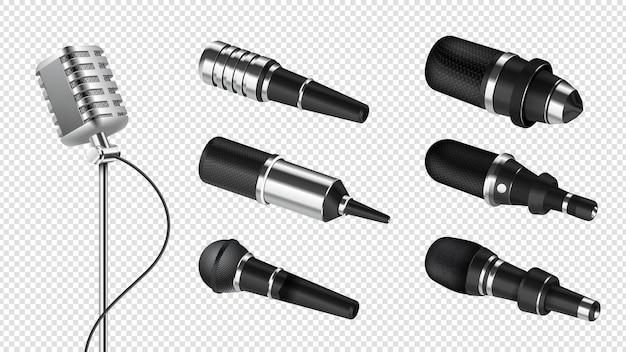 Conjunto de microfones realistas