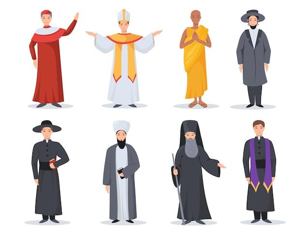 Conjunto de ministros de religião.