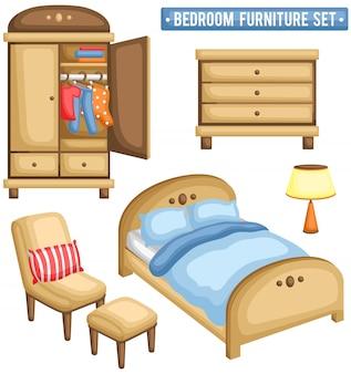 Conjunto de mobília do quarto