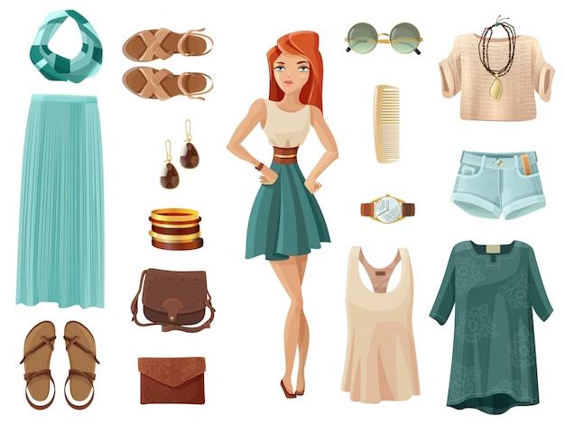Conjunto de moda mulher