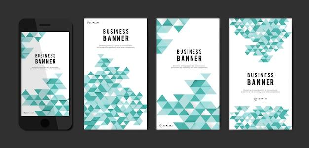 Conjunto de modelo de banner abstrato de negócios