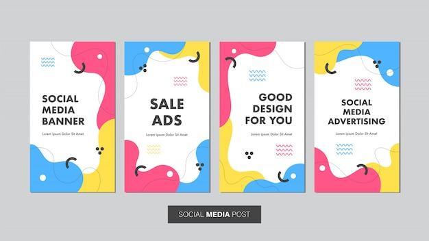 Conjunto de modelo de banner de venda editável para histórias de mídia social