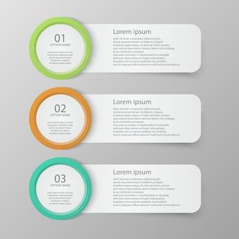 Conjunto de modelo de banners infográfico
