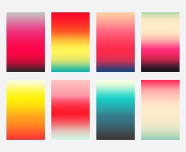 Conjunto de modelo de capas coloridas de gradiente.