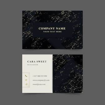Conjunto de modelo de cartão de luxo