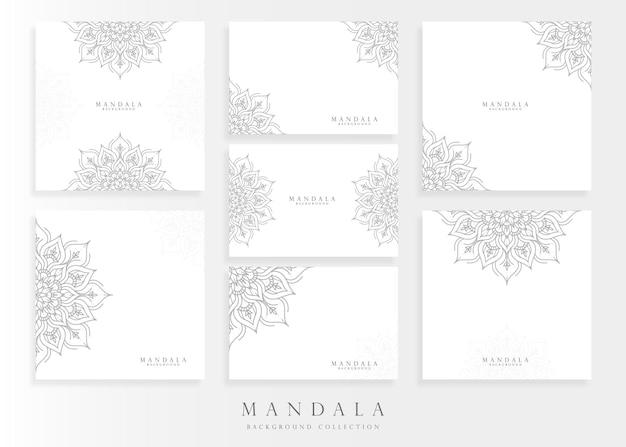 Conjunto de modelo de cartão de mandala