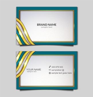 Conjunto de modelo de cartão de negócios elegante