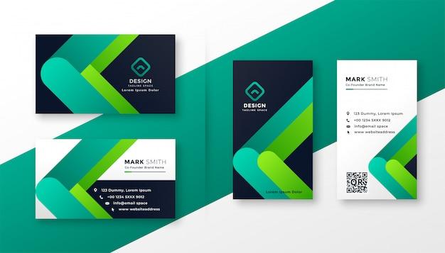 Conjunto de modelo de cartão empresarial moderno