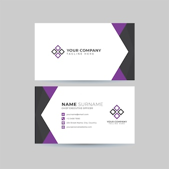 Conjunto de modelo de cartão profissional
