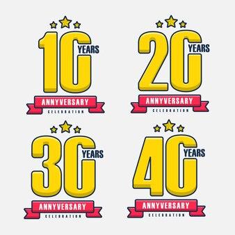 Conjunto de modelo de design de 10 a 40 anos