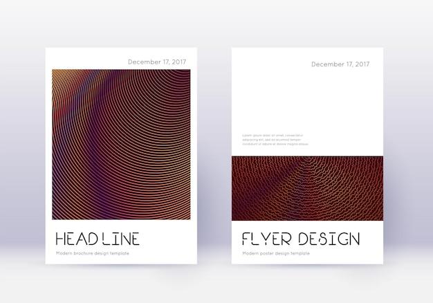 Conjunto de modelo de design de capa mínima. resumo laranja