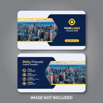Conjunto de modelo de design de cartão de visita moderno Vetor Premium