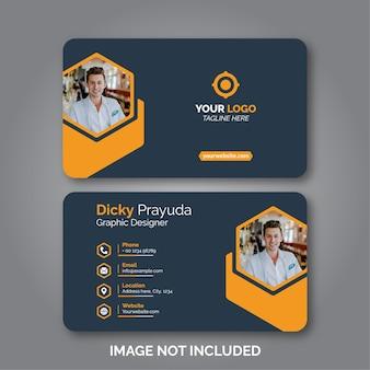 Conjunto de modelo de design de cartão de visita moderno