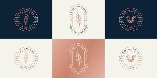 Conjunto de modelo de design de logotipo de luxo