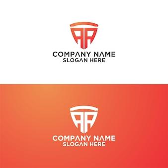 Conjunto de modelo de design de logotipo de vetor de carta de sheild criativo premium vetor premium