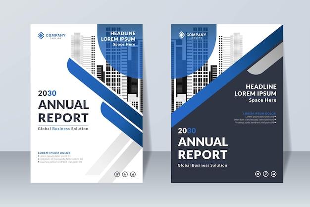 Conjunto de modelo de design de relatório anual simples