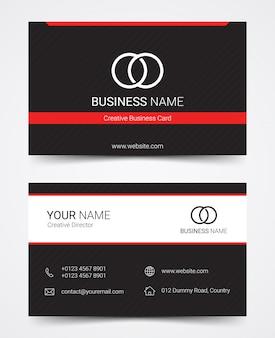 Conjunto de modelo de design moderno cartão de visita, ilustração vetorial