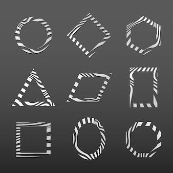 Conjunto de modelo de distintivo abstrato