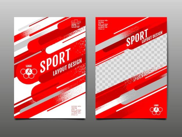 Conjunto de modelo de esporte