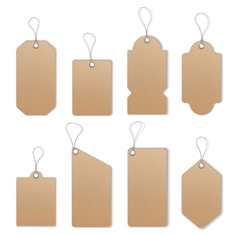 Conjunto de modelo de etiquetas e rótulos de preço ou venda