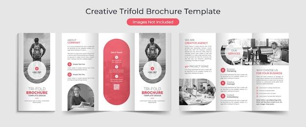 Conjunto de modelo de folheto criativo