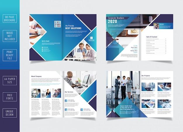 Conjunto de modelo de folheto de negócios corporativos