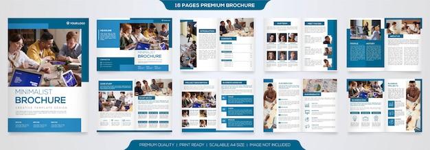 Conjunto de modelo de folheto de negócios