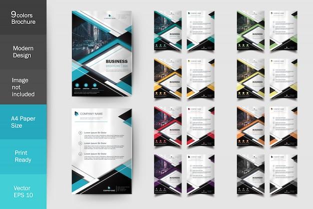 Conjunto de modelo de folheto moderno multi cor flyer
