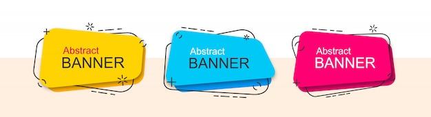 Conjunto de modelo de forma líquida de banners abstratos.