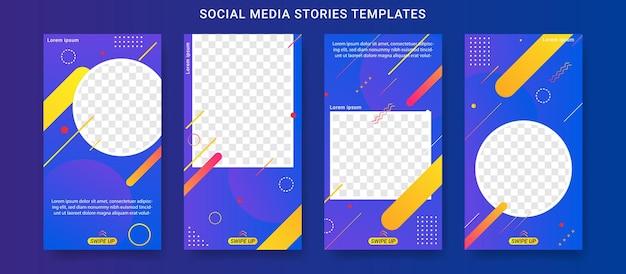 Conjunto de modelo de histórias de mídia social de liquidação de verão