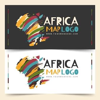 Conjunto de modelo de logotipo da áfrica