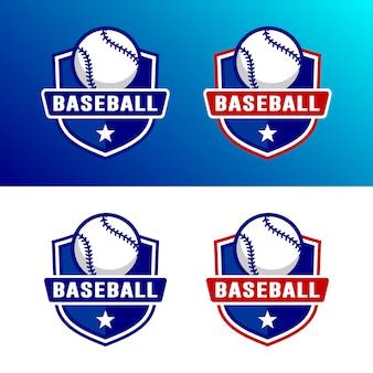 Conjunto de modelo de logotipo de beisebol