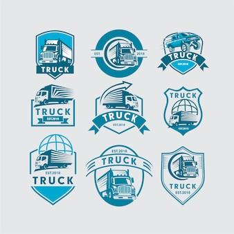 Conjunto de modelo de logotipo de caminhão