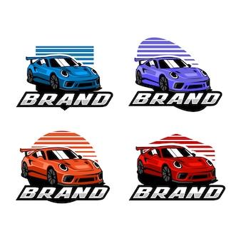 Conjunto de modelo de logotipo de carro esporte