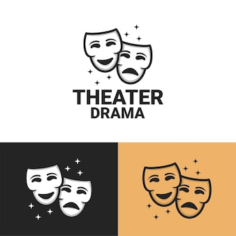 Conjunto de modelo de logotipo de drama de teatro