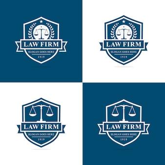 Conjunto de modelo de logotipo de escritório de advocacia